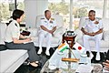 Admiral Katsutoshi Kawano Chief of Staff Joint Staff of Japanese Self Defence Forces interacting with Vice Adm Karambir Singh FOCINC ENC.jpg