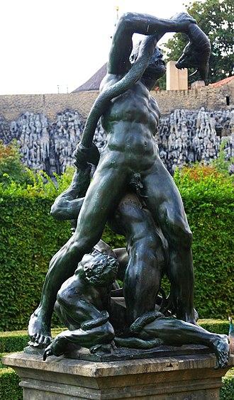 Adriaen de Vries - De Vries' reinterpretation of the Laocoön theme, bronze replica in the Wallenstein Palace gardens, Prague