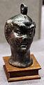Aequipondium (contrappeso da stadera) a forma di testa maschile con mezza maschera, epoca romana.JPG