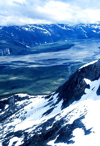 Taku River - Aerial view of the Taku River