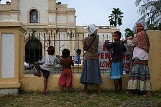 Aklan - An Ati family in Kalibo