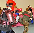 Afghan National Army Air Corps soldiers in the air base defense course practice their hand-to-hand combat skills. (4658926349).jpg