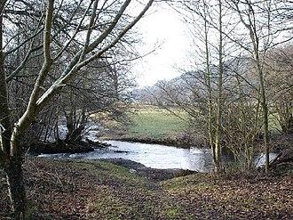 River Aled - The River Aled near Rhyd-yr-arian.