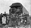 After childrens service aboard railroad chapel car Emmanuel.jpg