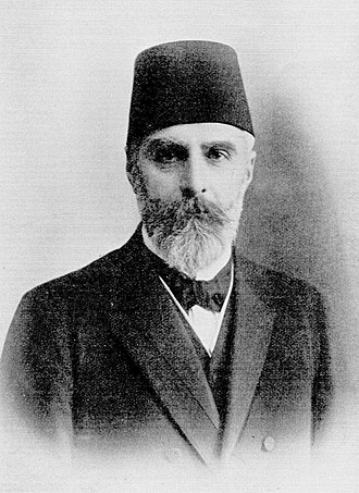 Ahmet Rıza - Ahmet Rıza in 1909 as an early opposition leader.