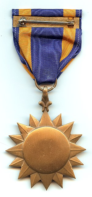Air Medal - Image: Air Medal back