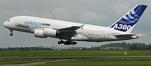 Aribus A380 go around/aborted landing at &quot...
