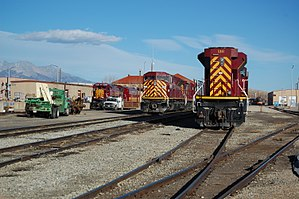 San Luis and Rio Grande Railroad - SLRG yard in Alamosa on October 23, 2012