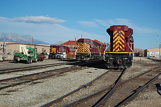 San Luis and Rio Grande Railroad - SLRG yard in Alamosa on October 23, 2012