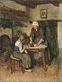 Albert Neuhuys - Interieur met strijkende vrouw en naaiend kind.jpg