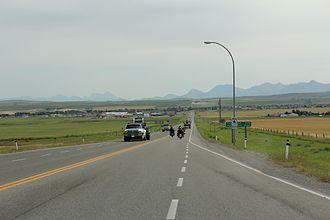 Alberta Highway 6 - Looking south from northern terminus