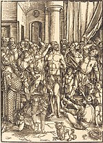 Albrecht Dürer, The Flagellation, c. 1497, NGA 6736.jpg
