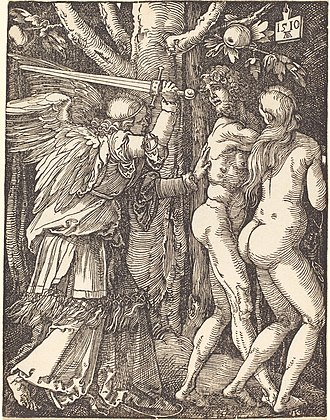 Albrecht Dürer - The Expulsion From Paradise, woodcut, 1510