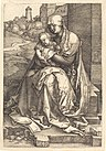 Albrecht Dürer - The Virgin and Child Seated by the Wall (NGA 1943.3.3521).jpg