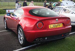 Alfa Romeo 8C Competizione - Rear view of production version