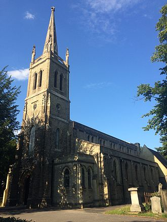 Upper Norwood - All Saints' Church, an Anglican parish church at Upper Norwood