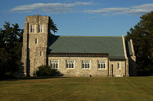 National Register of Historic Places listings in Androscoggin County, Maine - Image: All Souls Chapel Poland ME