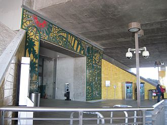 Allen station - The entrance of the station.
