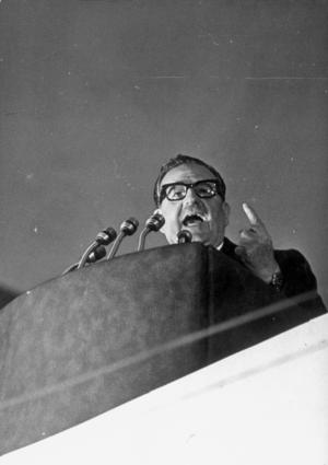 Salvador Allende bibliography - Salvador Allende in a speech, December 1971.
