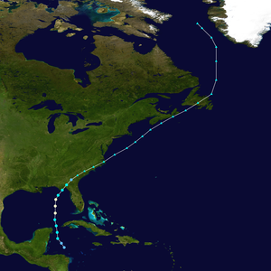 Hurricane Allison (1995) - Image: Allison 1995 track