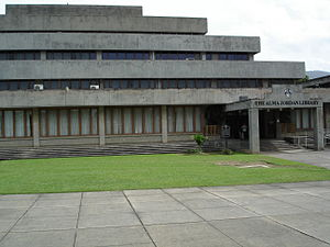 Alma Jordan Library - Image: Alma Jordan Library Building forecourt