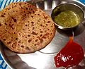 Aloo Paratha with Green Chutney.JPG