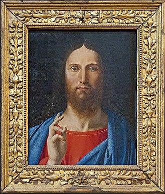 Alvise Vivarini - Image: Alvise Vivarini, Cristo benedicente