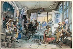 Coffeehouse - A café in Istanbul, 19th century
