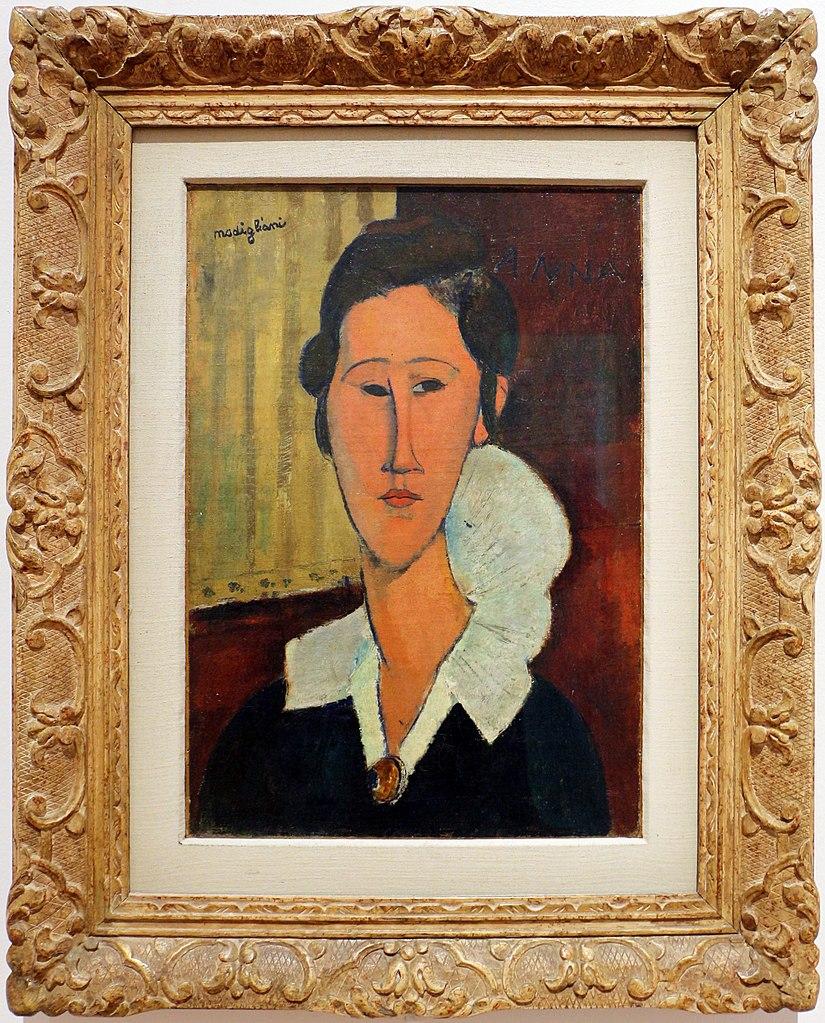 Portrait de Hanka Zborowska (1917) par Amadeo Modigliani au musée d'art moderne de Rome.