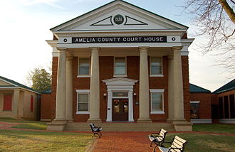 Amelia County, Virginia - Image: Amelia VA county courthouse