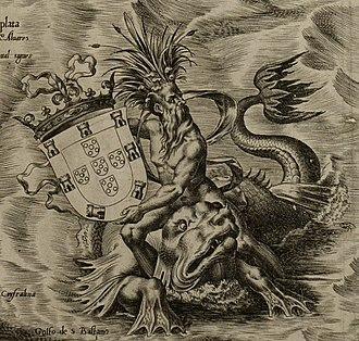 Americae Sive Quartae Orbis Partis Nova Et Exactissima Descriptio - Image: Americae Sive Quartae Orbis Partis Nova Et Exactissima Descriptio Portuguese arms
