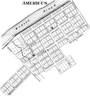 Americus, Indiana - Americus in 1878.