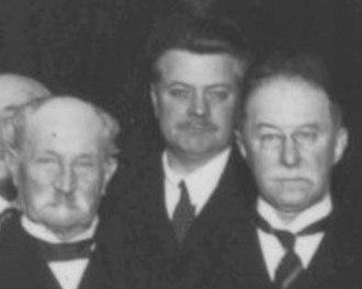 Roland Weitzenböck - Left to right: Diederik Korteweg, Roland Weitzenböck, Remmelt Sissingh, 1926 in Amsterdam