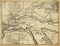 An authentic plan of the River St. Laurence, from Sillery to the Fall of Montmerenci, with the operations of the Siege of Quebec, under the command of Vice-Adml. Saunders & Majr. Genl. Wolfe, down to the 5 Sepr. 1759 (4231159197).jpg