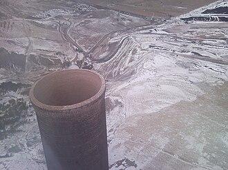 Anaconda Smelter Stack - Top of stack