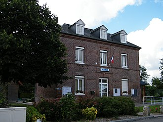 Ancourt - The town hall in Ancourt