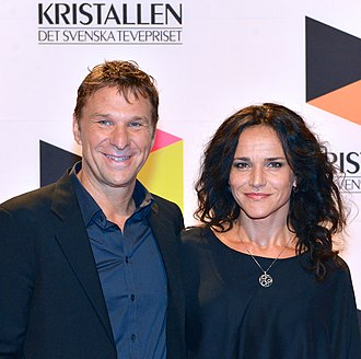 Anders Lundin - Lundin with his wife Kerstin (2013)