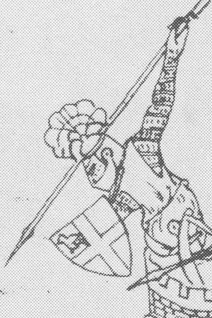 Andrew Harclay, 1st Earl of Carlisle - Contemporary illustration of Harclay defending Carlisle Castle against the Scots in 1315.