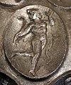 Anfora di baratti, argento, 390 circa, medaglioni, 26 satiro danzante.JPG