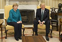 photograph of Merkel and Trump