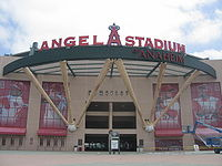 Angel Stadium of Anaheim's exterior.