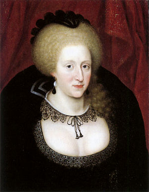 Sign of Hertoghe - Anne of Denmark mourning the death of her son Henry in 1612