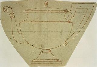 Design for a silver teapot