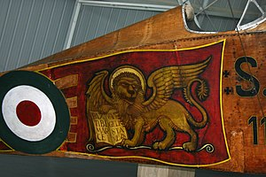 Flight over Vienna - Lion of St. Mark displayed on most of the Ansaldo SVA aircraft on the raid