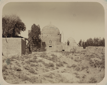 Antiquities of Samarkand. Mausoleum of Khodzha Abdu-Derun. General View of the Mausoleum from the Southwest WDL3734.png