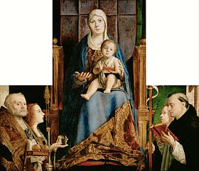 Antonello da Messina - Madonna with the Saints Nicholas of Bari, Lucia, Ursula and Dominic - Google Art Project.jpg
