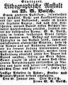Anzeige der Geschäftsübernahme durch Otto Baisch nach dem Tod des Vaters, 1864.jpg