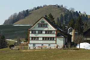 Rüte - Appenzell farmhouse on the Gaiserstrasse between Gais and Appenzell.