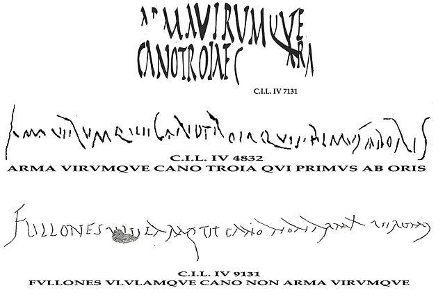 Un extrait de l'Odyssée découvert sur une tablette antique 640px-Arma_virumque_cano