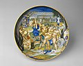 Armorial Plate- Silenus on an ass, supported by Bacchic revelers MET DT353621.jpg